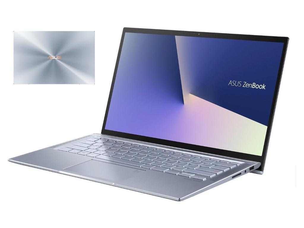 Ноутбук ASUS Zenbook UX431FA-AM187R Light Blue 90NB0MB3-M05330 (Intel Core i7-10510U 1.8 GHz/16384Mb/1024Gb SSD/Intel HD Graphics/Wi-Fi/Bluetooth/Cam/14.0/1920x1080/Windows 10 Pro 64-bit)