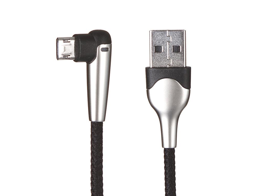 Аксессуар Baseus MVP Elbow Reversible Charging Data Cable USB - MicroUSB 2.4A 1m Black CAMMVP-E01