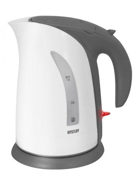 Чайник Mystery MEK-1639 White-Grey electric kettle mystery mek 1614 grey