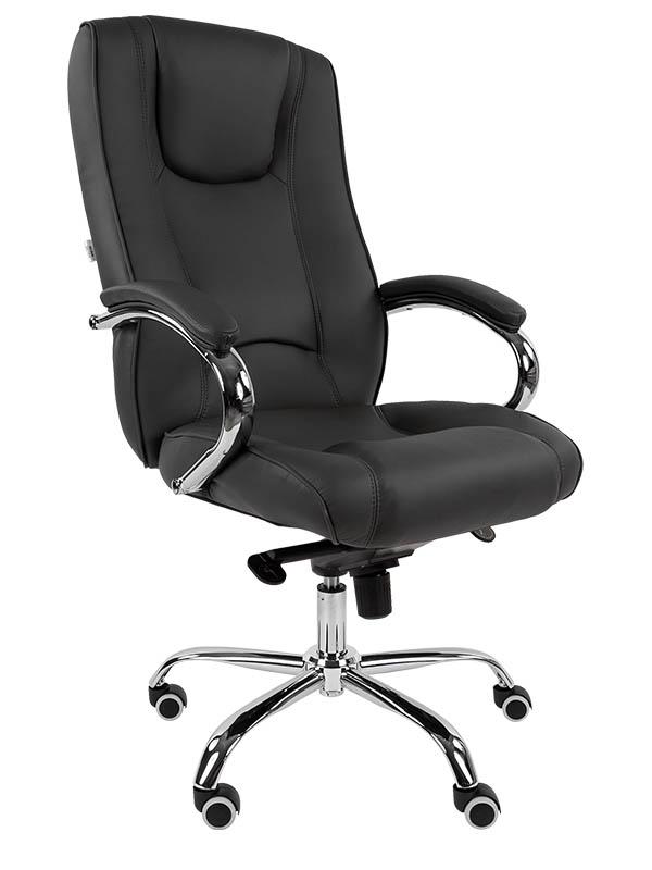 Компьютерное кресло Русские кресла РК 100 PU Люкс Chrome Black