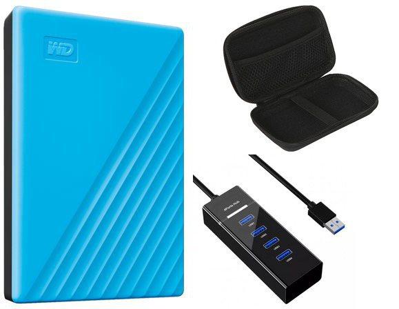 Фото - Жесткий диск Western Digital My Passport 2Tb Light Blue WDBYVG0020BBL-WESN Выгодный набор + серт. 200Р!!! жесткий диск western digital my passport