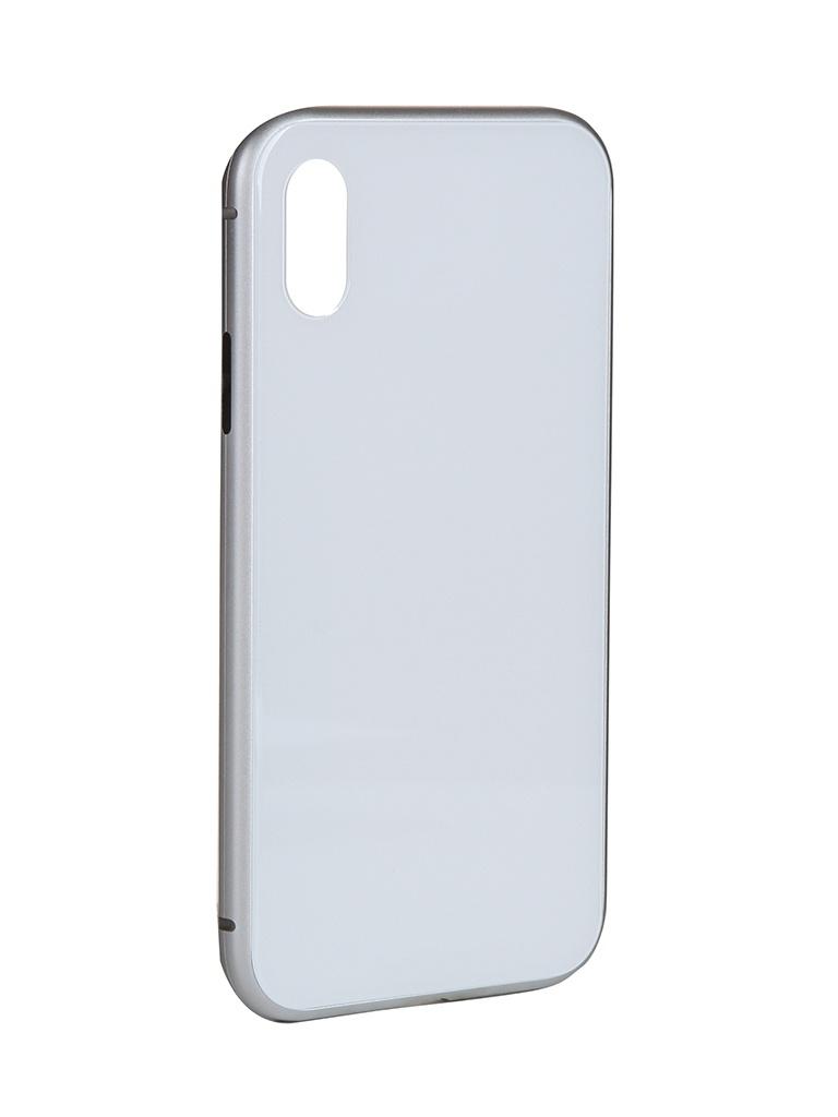 Чехол iBox для APPLE iPhone X Magnetic White УТ000020803