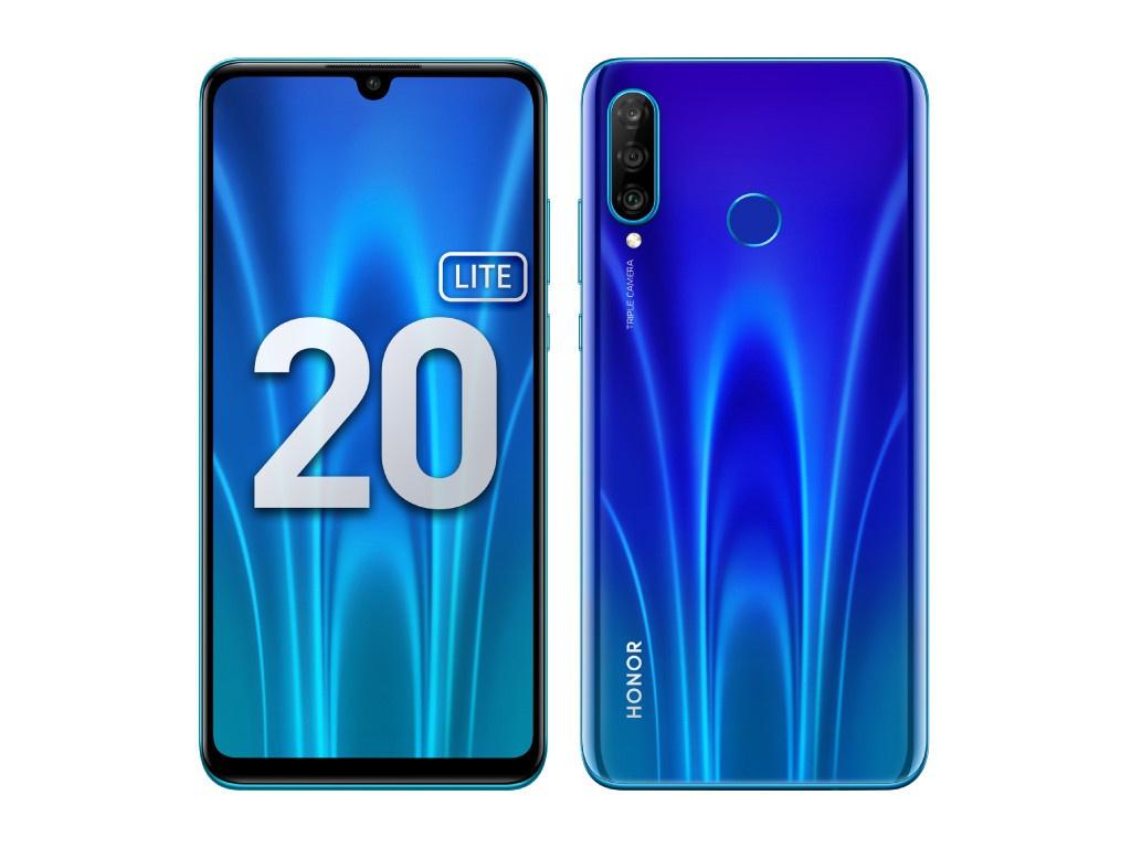Сотовый телефон Honor 20 Lite 4Gb/128Gb Sapphire Blue Выгодный набор + серт. 200Р!!! сотовый