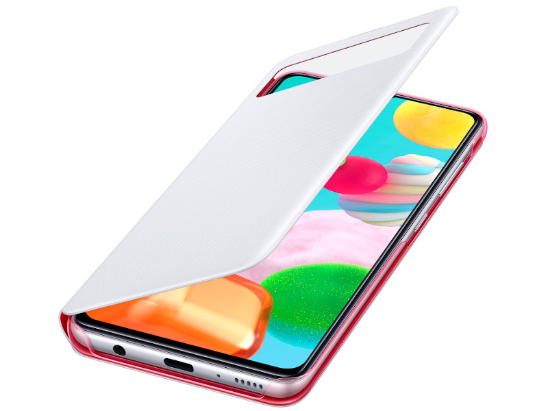 Чехол для Samsung Galaxy A41 A415 S-View Cover White EF-EA415PWEGRU аксессуар чехол для samsung galaxy s10e led view cover white ef ng970pwegru