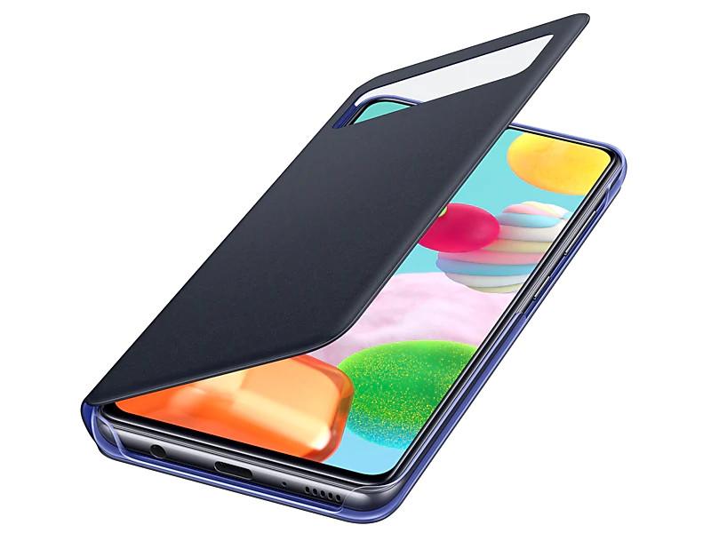 Чехол для Samsung Galaxy A41 A415 S-View Cover Black EF-EA415PBEGRU чехол для сотового телефона samsung galaxy note 8 clear cover violet ef qn950cvegru