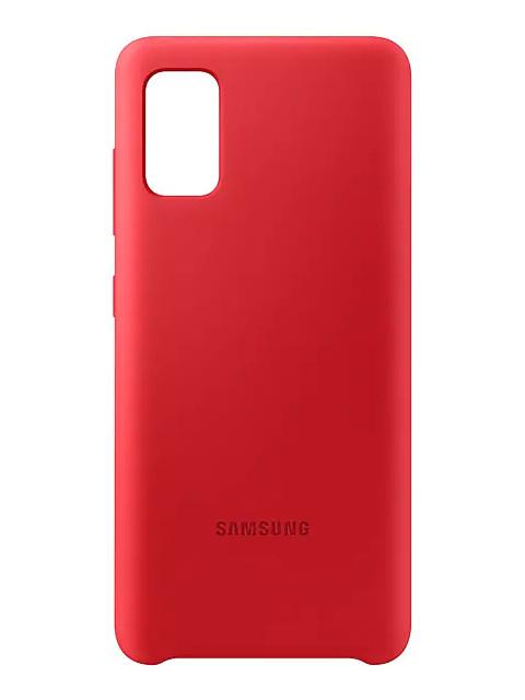 Чехол для Samsung Galaxy A41 A415 Cover Silicone Red EF-PA415TREGRU чехол для сотового телефона samsung galaxy note 8 clear cover violet ef qn950cvegru