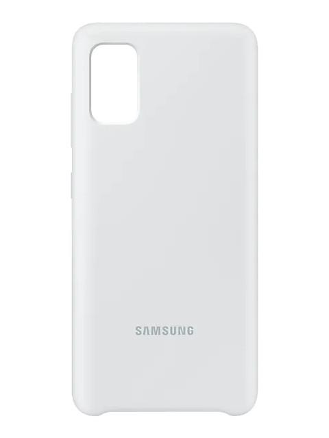 Чехол для Samsung Galaxy A41 A415 Cover Silicone White EF-PA415TWEGRU чехол для сотового телефона samsung galaxy note 8 clear cover violet ef qn950cvegru