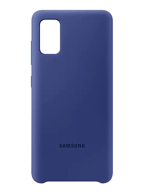 Чехол для Samsung Galaxy A41 A415 Cover Silicone Blue EF-PA415TLEGRU чехол для сотового телефона samsung galaxy note 8 clear cover violet ef qn950cvegru