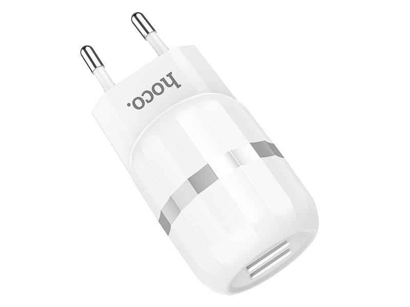 Зарядное устройство Hoco C41A 2USB/5V/2.4A + USB Type-C White 92702
