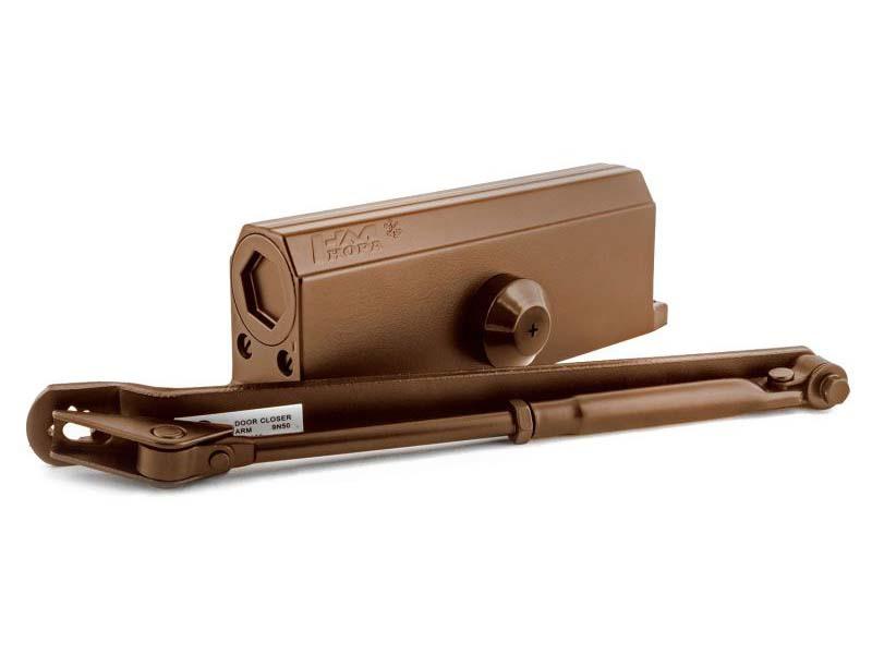 Доводчик дверной Нора-М №5S (до 160кг) Brown 15889