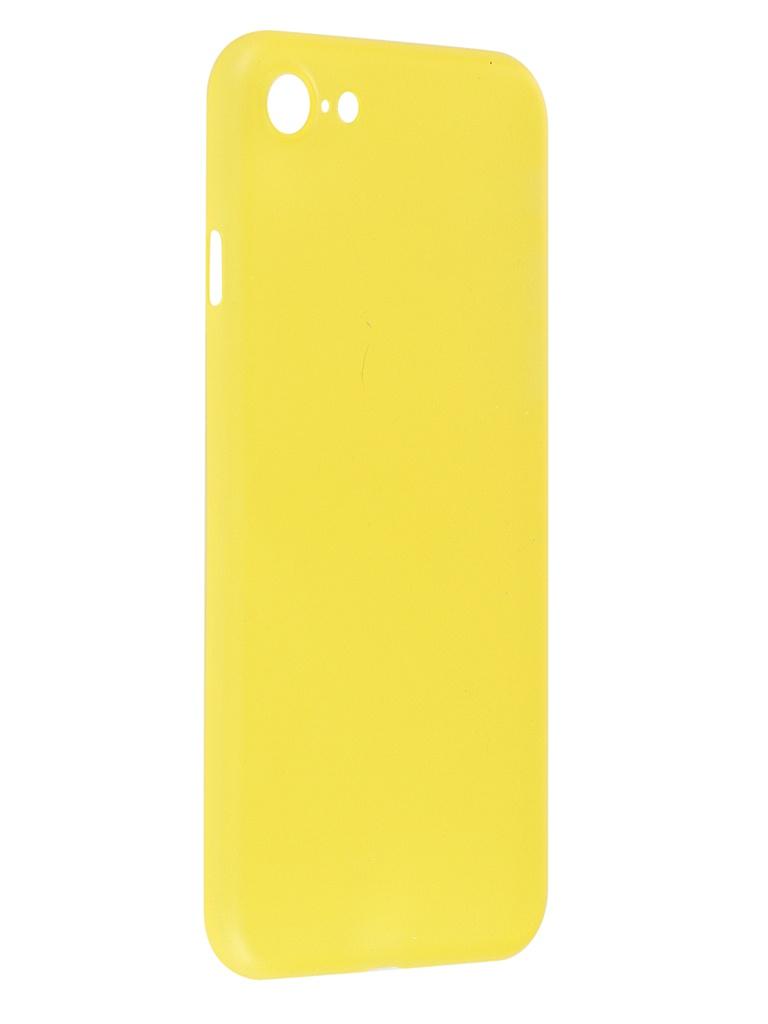 Чехол iBox для APPLE iPhone SE (2020) / 8 UltraSlim Yellow УТ000020910