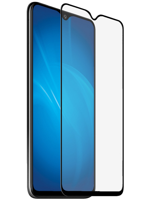 Защитный экран Red Line для Vivo Y12 Full Screen Tempered Glass Glue Black УТ000018660