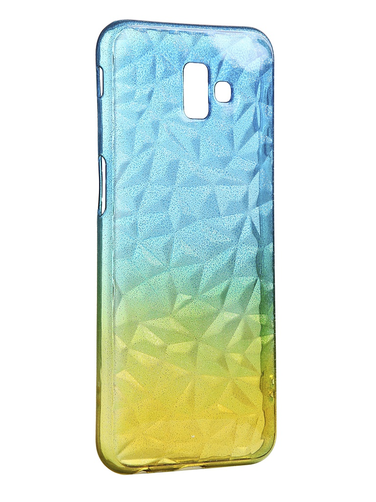 Чехол Krutoff для Samsung Galaxy J6 Plus SM-J610 Crystal Silicone Yellow-Blue 12263