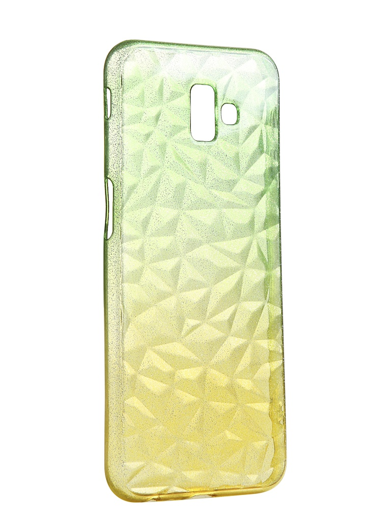 Чехол Krutoff для Samsung Galaxy J6 Plus SM-J610 Crystal Silicone Yellow-Green 12260