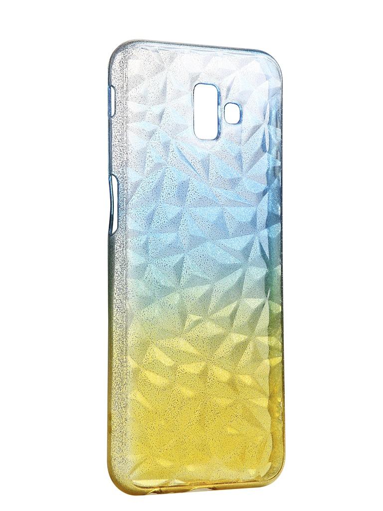 Чехол Krutoff для Samsung Galaxy J5 2017 SM-J530 Crystal Silicone Yellow-Blue 12271