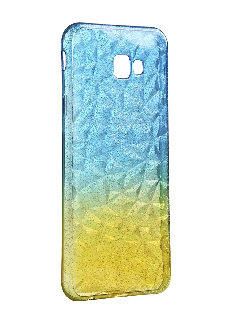 Чехол Krutoff для Samsung Galaxy J4 Plus SM-J415 Crystal Silicone Yellow-Blue 12257