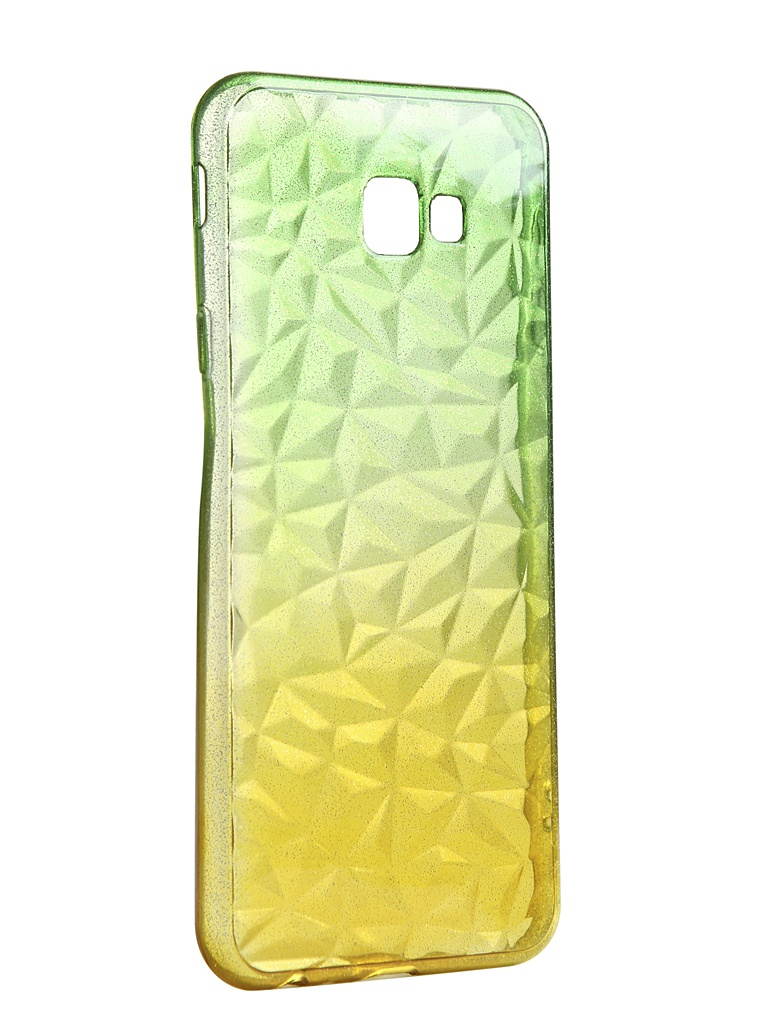 Чехол Krutoff для Samsung Galaxy J4 Plus SM-J415 Crystal Silicone Yellow-Green 12254
