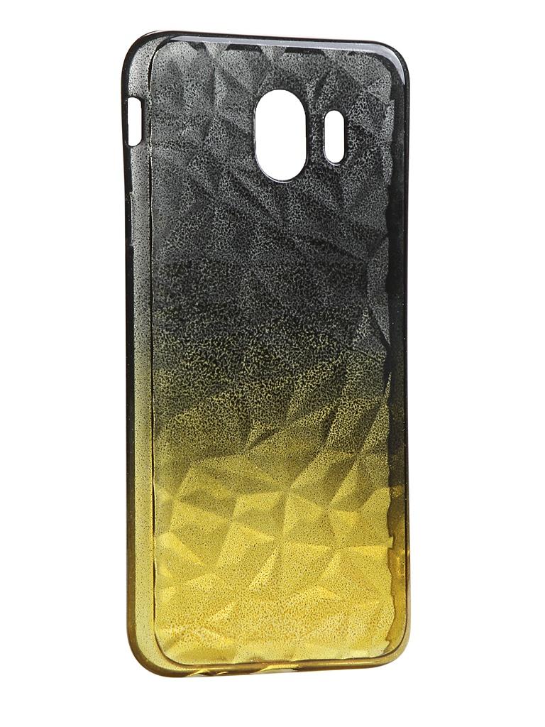 Чехол Krutoff для Samsung Galaxy J4 2018 SM-J400 Crystal Silicone Yellow-Black 12252 аксессуар чехол накладка krutoff tpu для samsung galaxy s8 sm g950f transparent 11963