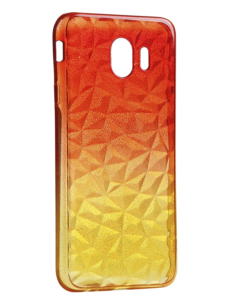 Чехол Krutoff для Samsung Galaxy J4 2018 SM-J400 Crystal Silicone Yellow-Red 12249