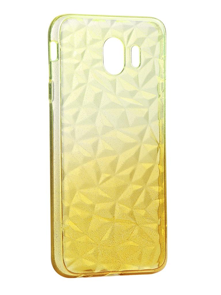 Чехол Krutoff для Samsung Galaxy J4 2018 SM-J400 Crystal Silicone Yellow 12247