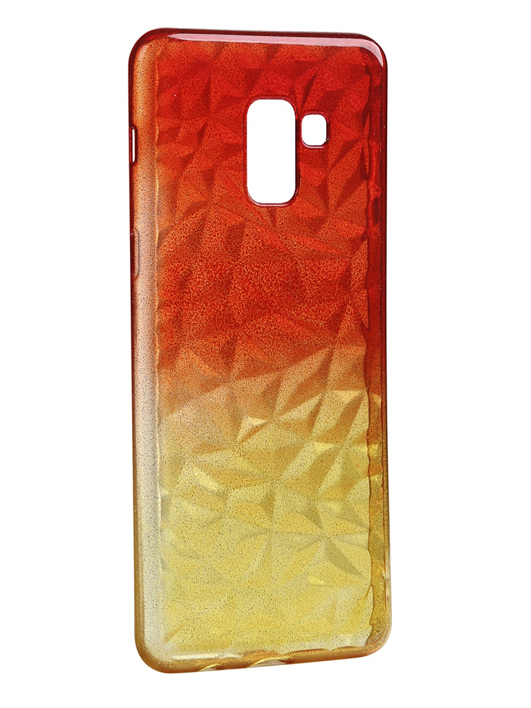 Чехол Krutoff для Samsung Galaxy A8 Plus SM-A730 Crystal Silicone Yellow-Red 12225