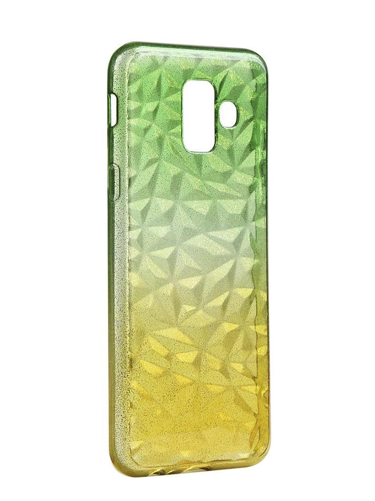 Чехол Krutoff для Samsung Galaxy A8 Plus SM-A730 Crystal Silicone Yellow-Green 12224