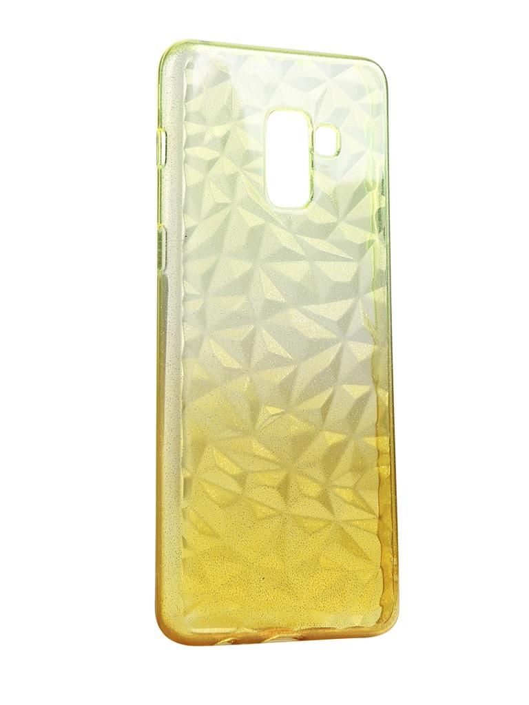 Чехол Krutoff для Samsung Galaxy A8 Plus SM-A730 Crystal Silicone Yellow 2223 аксессуар чехол накладка для samsung galaxy a8 sm a730f krutoff tpu transparent 11949