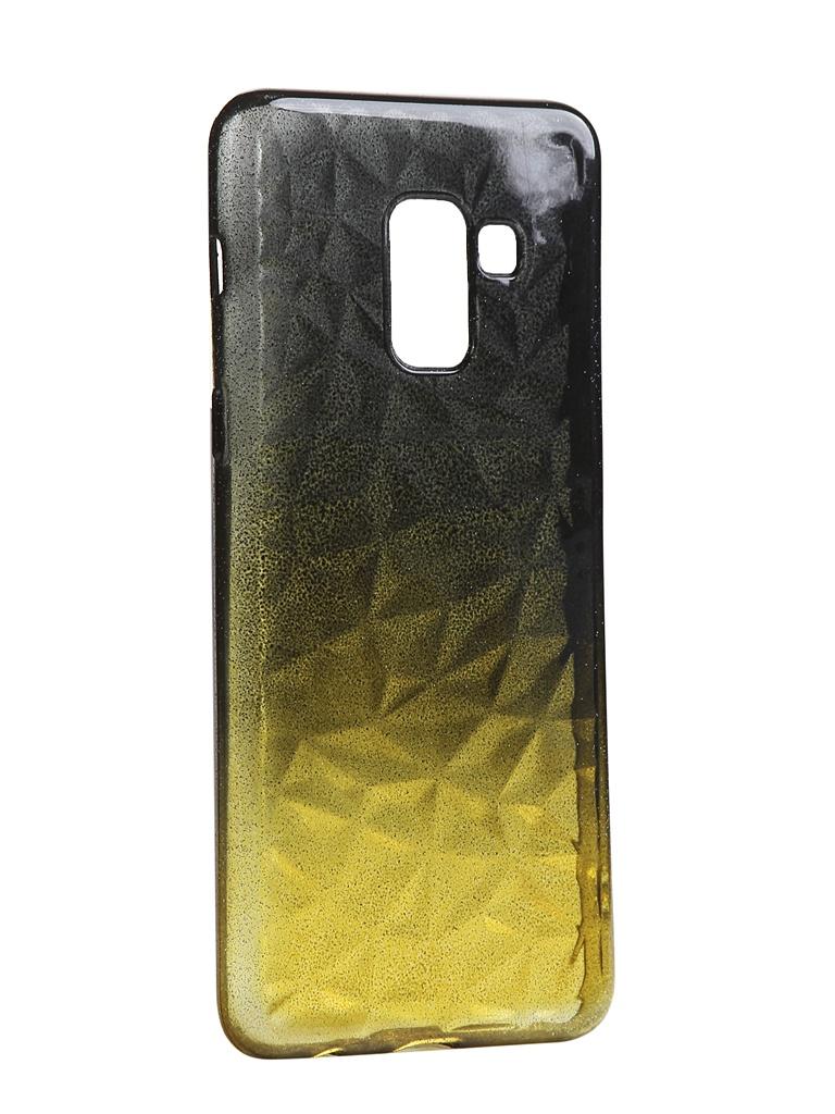 Чехол Krutoff для Samsung Galaxy A8 SM-A530 Crystal Silicone Yellow-Black 12222 аксессуар чехол накладка для samsung galaxy a8 sm a730f krutoff tpu transparent 11949