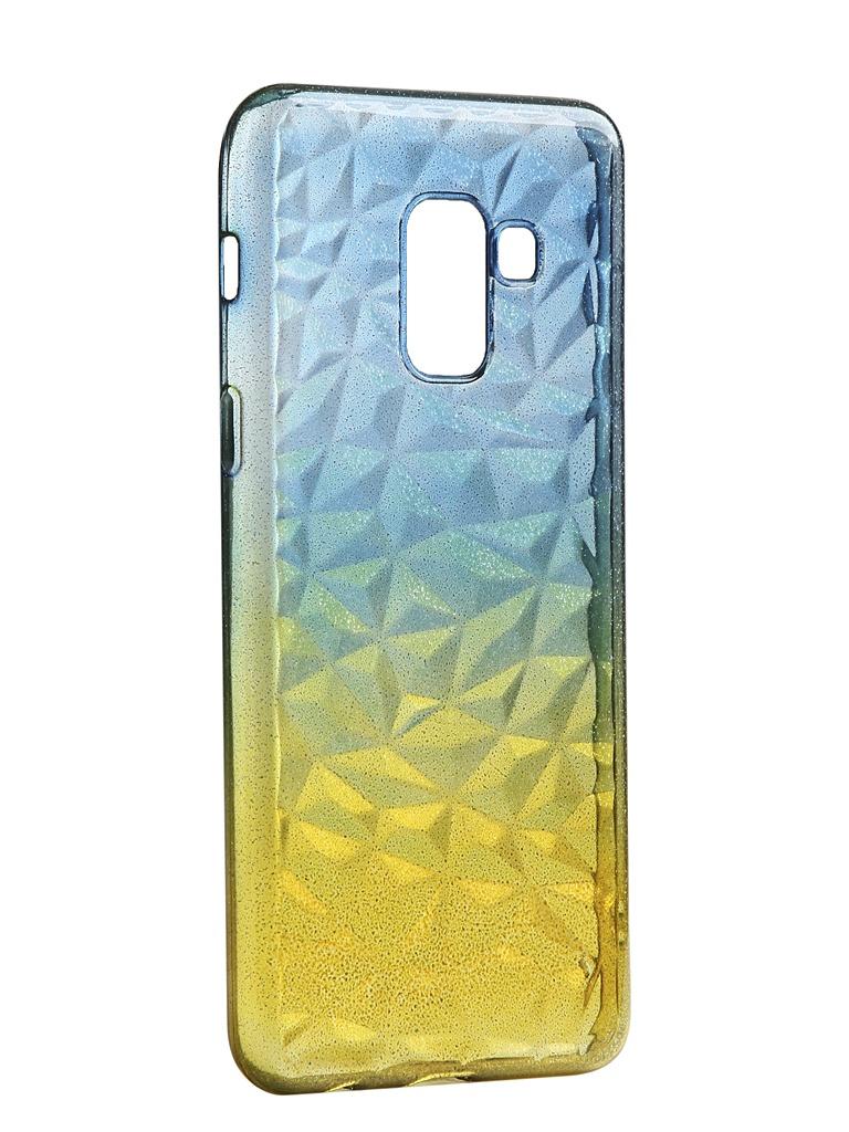 Чехол Krutoff для Samsung Galaxy A8 SM-A530 Crystal Silicone Yellow-Blue 12221 аксессуар чехол накладка для samsung galaxy a8 sm a730f krutoff tpu transparent 11949