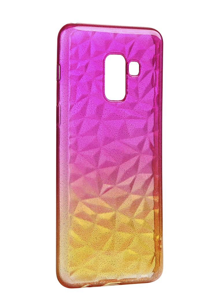 Чехол Krutoff для Samsung Galaxy A8 SM-A530 Crystal Silicone Yellow-Pink 12220