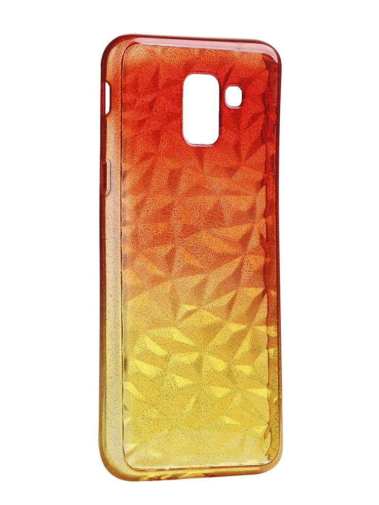 Чехол Krutoff для Samsung Galaxy A8 SM-A530 Crystal Silicone Yellow-Red 12219 аксессуар чехол накладка для samsung galaxy a8 sm a730f krutoff tpu transparent 11949