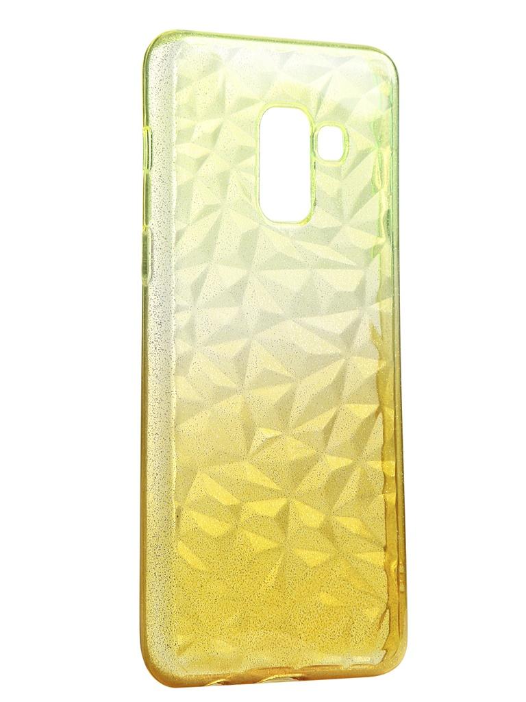 Чехол Krutoff для Samsung Galaxy A8 SM-A530 Crystal Silicone Yellow 12217 аксессуар чехол накладка для samsung galaxy a8 sm a730f krutoff tpu transparent 11949