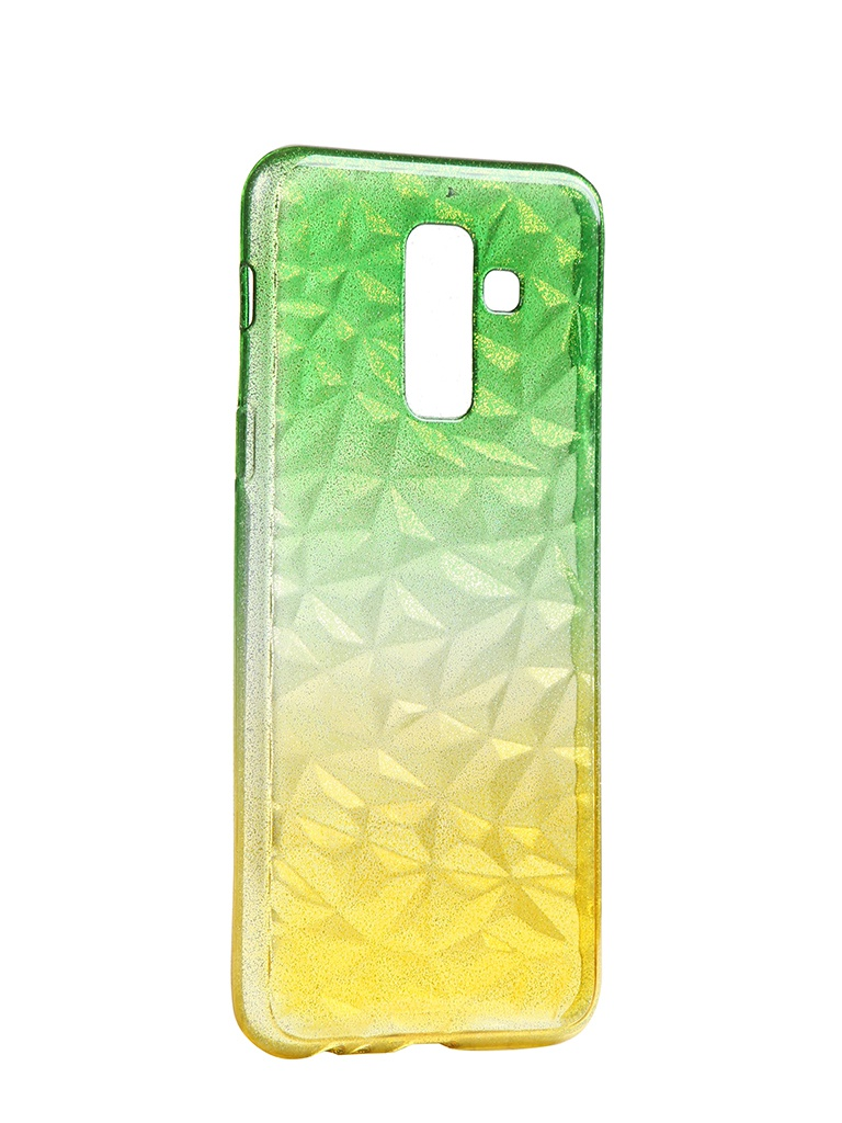 Чехол Krutoff для Samsung Galaxy A6 Plus SM-A605 Crystal Silicone Yellow-Green 12236