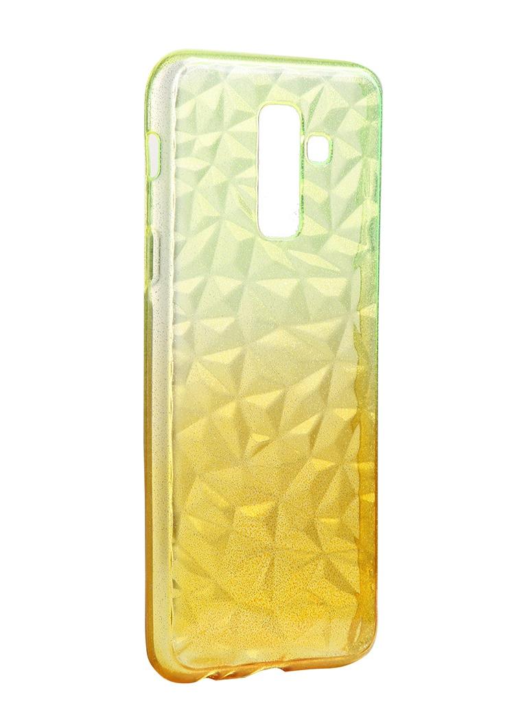 Чехол Krutoff для Samsung Galaxy A6 Plus SM-A605 Crystal Silicone Yellow 12235