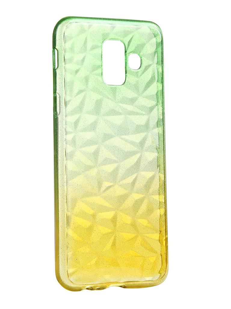 Чехол Krutoff для Samsung Galaxy A6 SM-A600 Crystal Silicone Yellow-Green 12230
