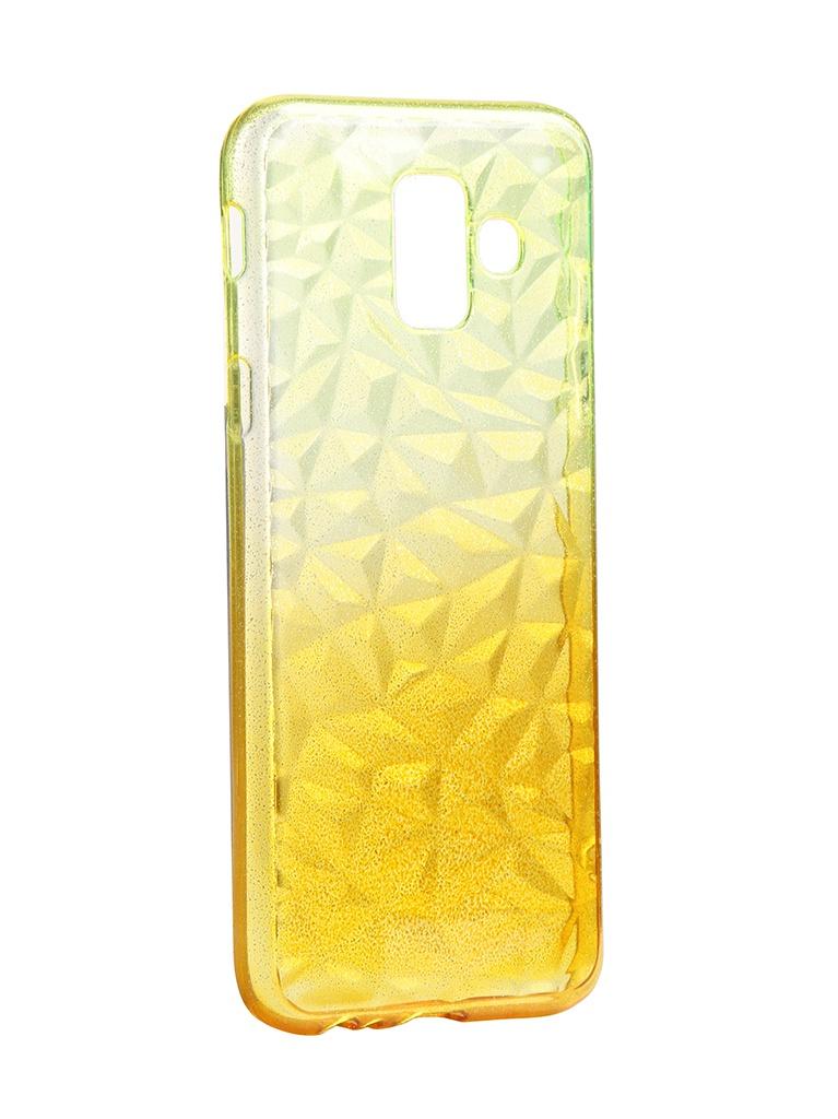 Чехол Krutoff для Samsung Galaxy A6 SM-A600 Crystal Silicone Yellow 12229