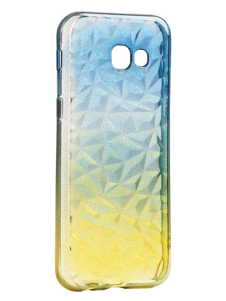 Чехол Krutoff для Samsung Galaxy A5 2017 SM-A520 Crystal Silicone Yellow-Blue 12269 аксессуар чехол накладка krutoff tpu для samsung galaxy s8 sm g950f transparent 11963