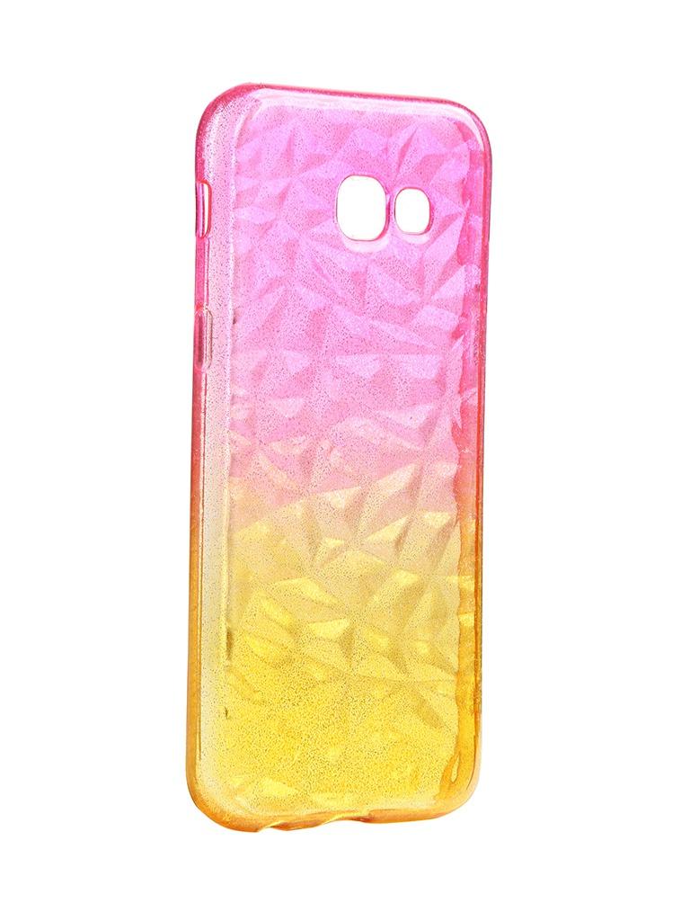 Чехол Krutoff для Samsung Galaxy A5 2017 SM-A520 Crystal Silicone Yellow-Pink 12268