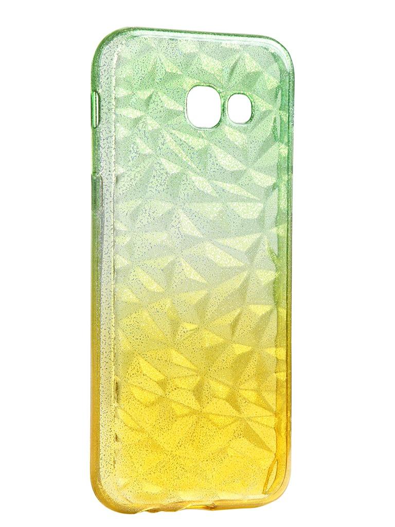 Чехол Krutoff для Samsung Galaxy A5 2017 SM-A520 Crystal Silicone Yellow-Green 12266 аксессуар чехол накладка krutoff tpu для samsung galaxy s8 sm g950f transparent 11963
