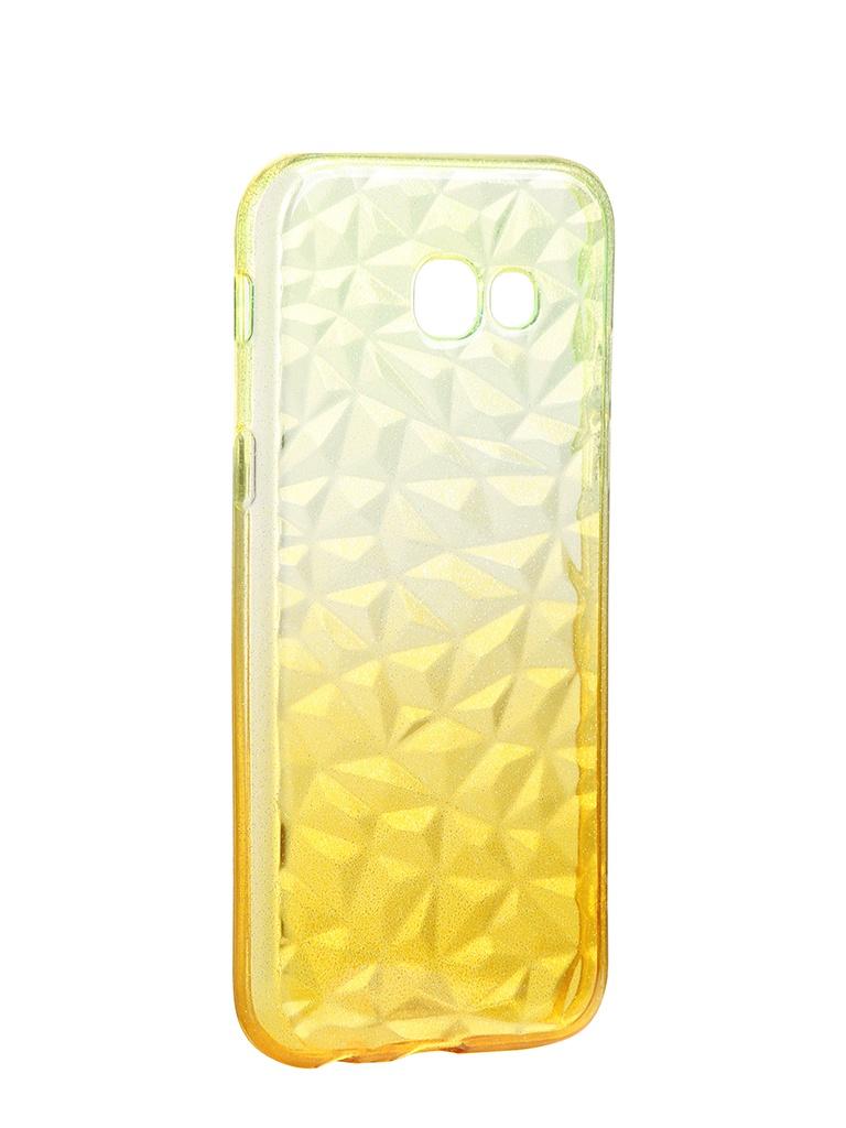 Чехол Krutoff для Samsung Galaxy A5 2017 SM-A520 Crystal Silicone Yellow 12265