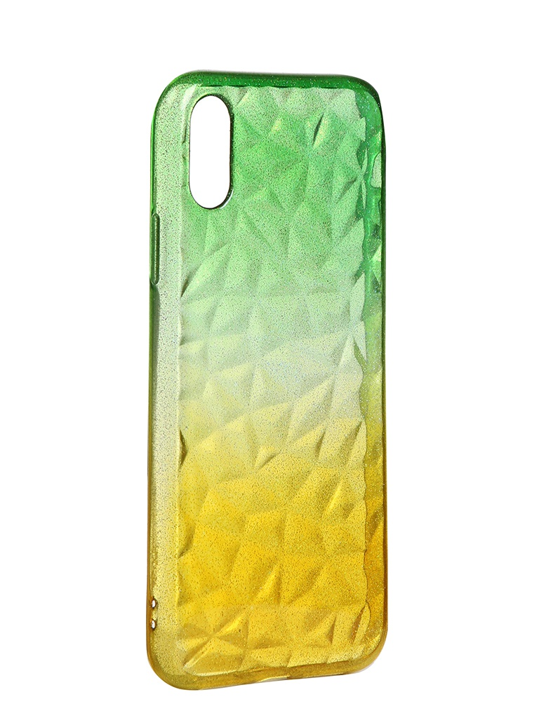 Чехол Krutoff для APPLE iPhone XR Crystal Silicone Yellow-Green 12206