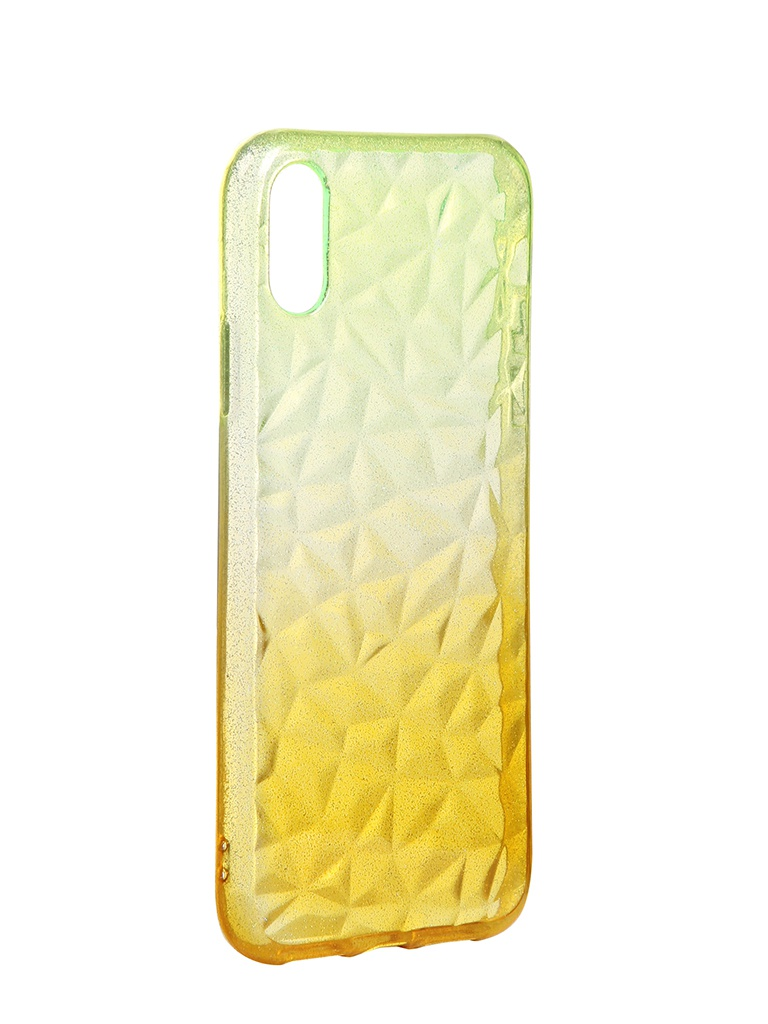 Чехол Krutoff для APPLE iPhone XR Crystal Silicone Yellow 12205