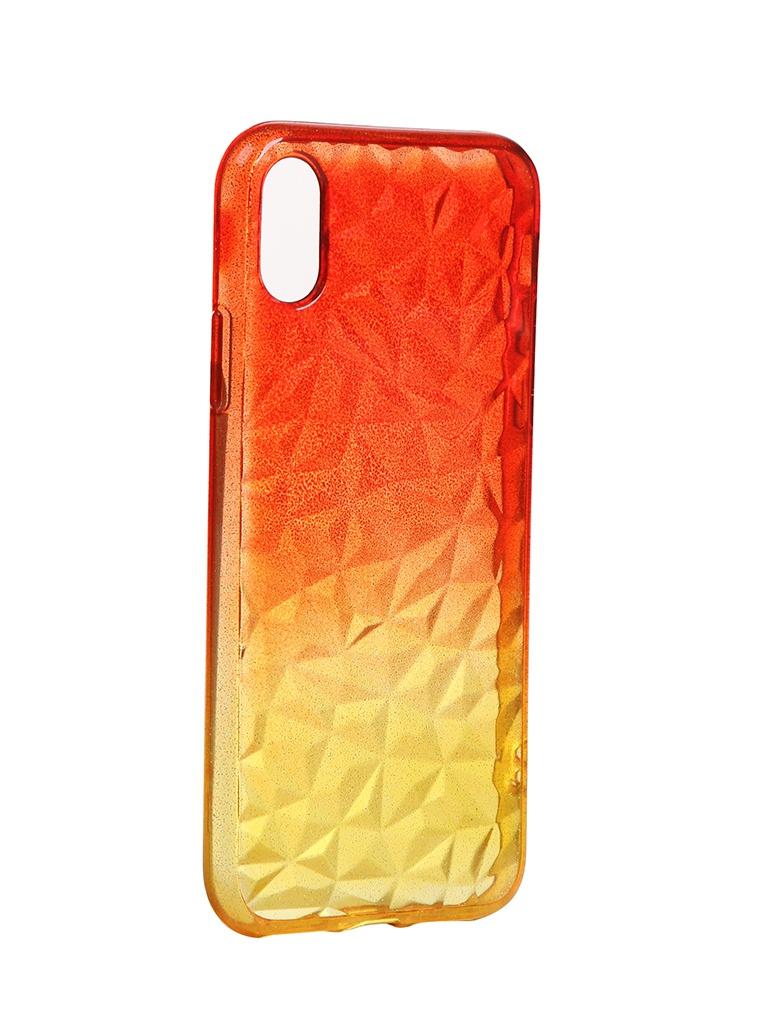цена на Чехол Krutoff для APPLE iPhone X / XS Crystal Silicone Yellow-Red 12201