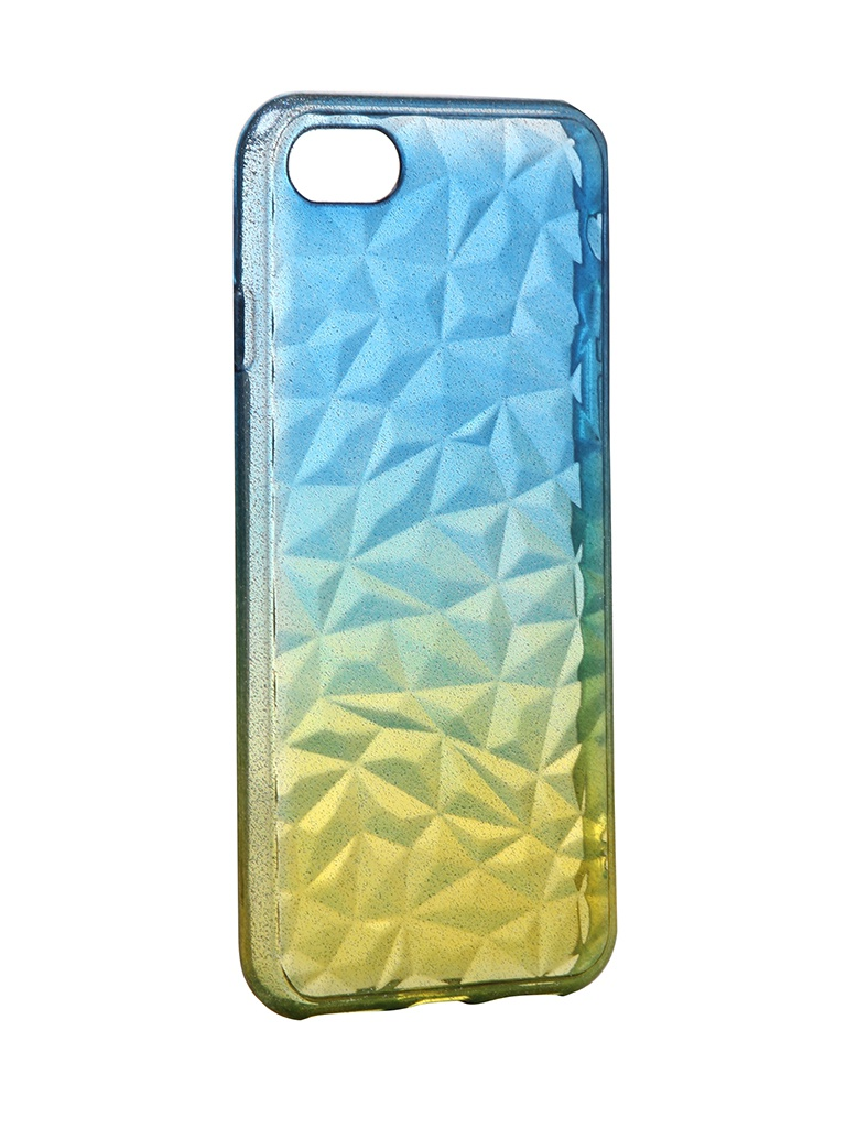 Чехол Krutoff для APPLE iPhone 7 / 8 Crystal Silicone Yellow-Blue 12191