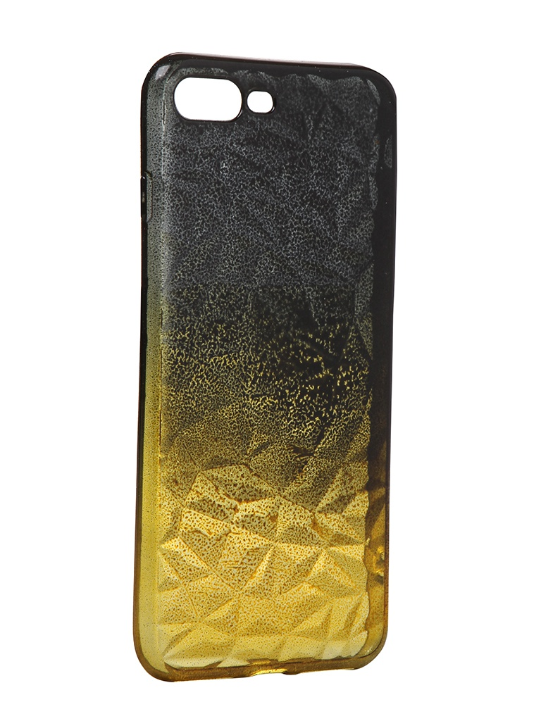 Чехол Krutoff для APPLE iPhone 7 Plus / 8 Crystal Silicone Yellow-Black 12198