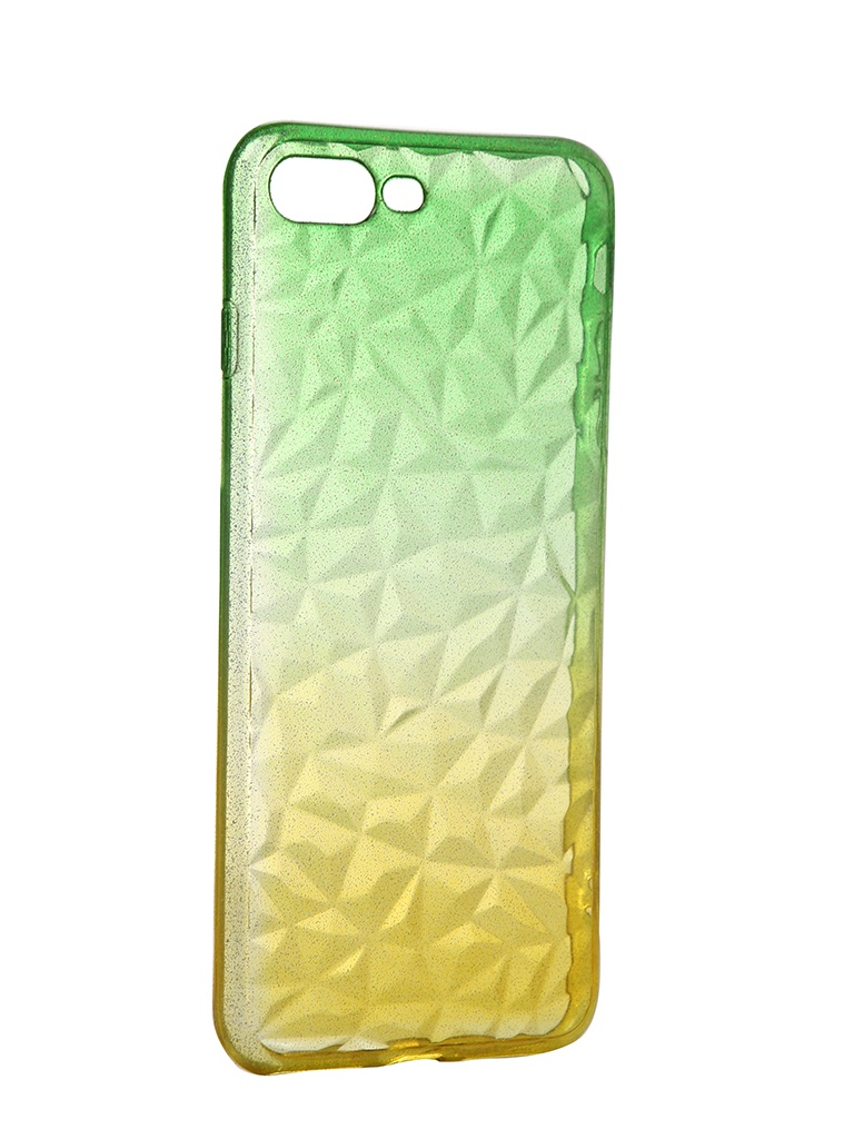 Чехол Krutoff для APPLE iPhone 7 Plus / 8 Crystal Silicone Yellow-Green 12194
