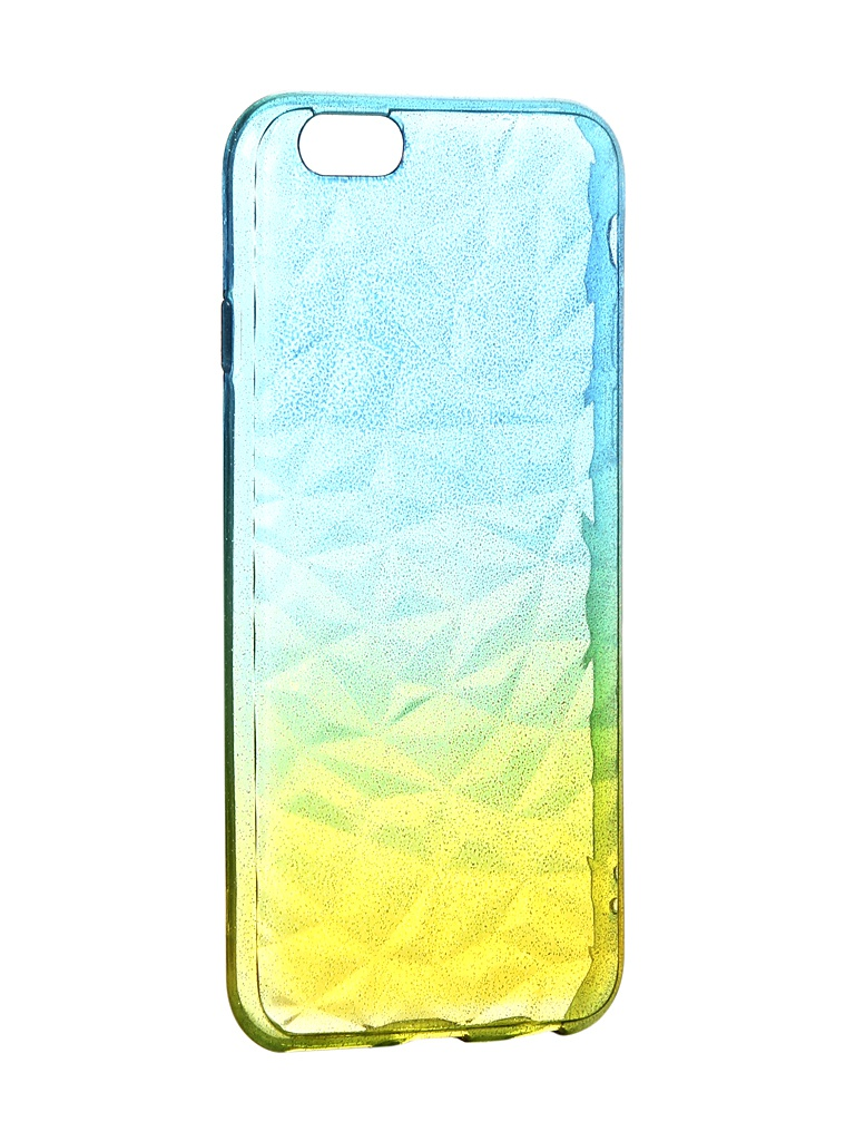 Чехол Krutoff для APPLE iPhone 6 / 6S Crystal Silicone Yellow-Blue 11909