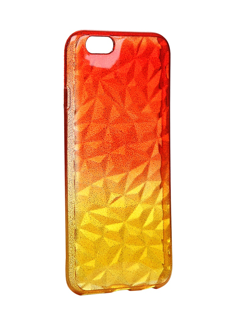 Чехол Krutoff для APPLE iPhone 6 / 6S Crystal Silicone Yellow-Red 11908