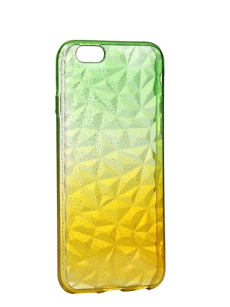 Чехол Krutoff для APPLE iPhone 6 / 6S Crystal Silicone Yellow-Green 11907