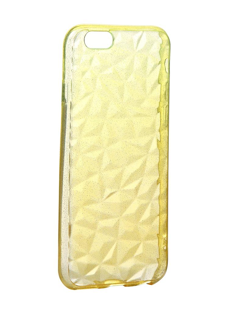Чехол Krutoff для APPLE iPhone 6 / 6S Crystal Silicone Yellow 11901 вороток sata 11901